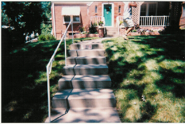 The front stairs, looking north